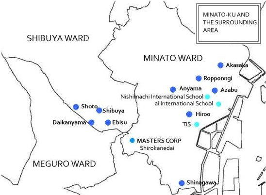 Minato-ku and The surrounding area